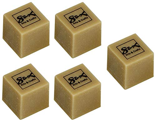 Sax Art Gum Block Erasers, 1 x 1 x 1/2 Inches, Pack of 24 (Вundlе оf Fіvе) by Sax