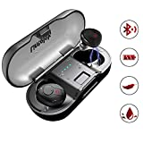 Lintelek Wireless Earbuds, Deep Bass True Wireless Stereo Earphones, Instant Pairing Noise Canceling Headsets with Built-in Mic, 20H Music Time with Portable Charging Case Wireless Headphones (Black)