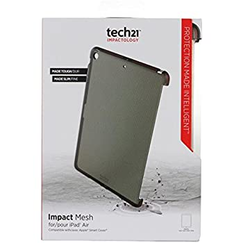 best service c10d7 bb4ef iPad Air Case, Tech21 Smoke Black Impact MESH Anti-Shock CASE TPU Skin  Cover for Apple iPAD AIR (Compatible with Apple Smart Cover)