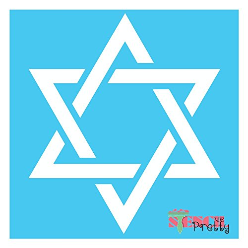Star of David Stencil - Jewish Hebrew Shield of Magen DIY Template - XS (9.5