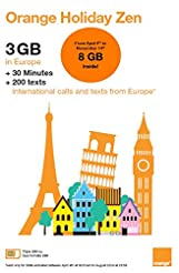Orange Holiday Europe - 3GB Internet Dat...
