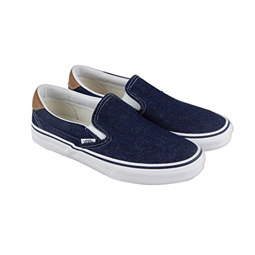 Vans Mens Denim Slip-on 59 Fashion-sneakers Da Skate Shoe Dress Blues / Chimpunk