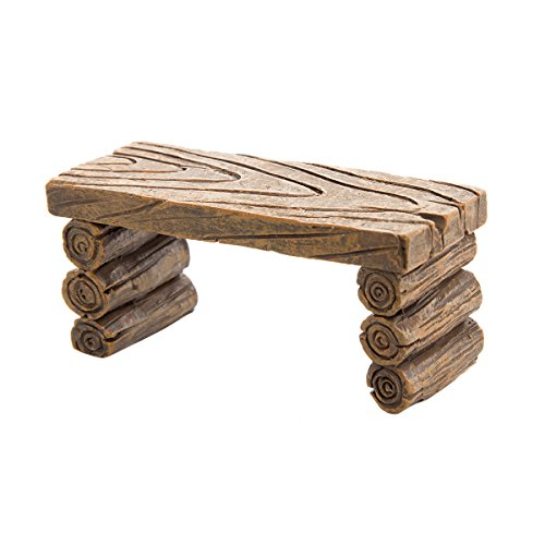 Darice Simple Resin Log-Like Fairy Garden Table