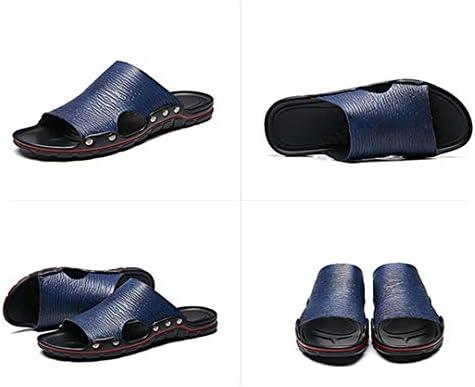 レザーサンダル メンズ 軽量 24-28.5cm 皮サンダル スタイリッシュ ビーチサンダル 滑り止め スリッパ 幅広 コンフォートサンダル