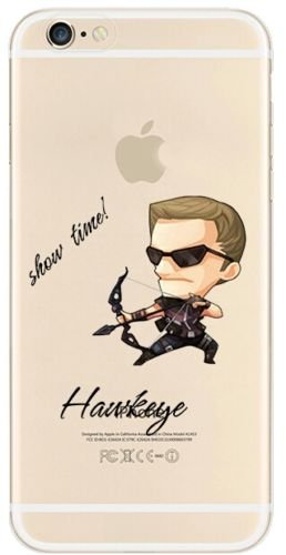 New Marvels Avenger Transparent Clear TPU Soft Case For Apple iPhone 7 Plus HAWKEYE