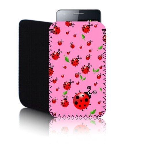 Biz-E-Bee Phonecase Exclusive 'Coccinelle' Rose Nouvel Apple iPhone 5/5S résistant aux chocs Housse de téléphone portable en néoprène, Housse, pochette