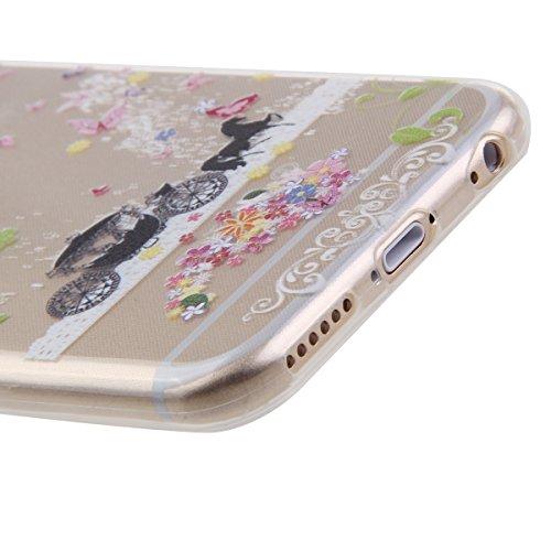 Funda para iPhone 6 Plus, funda de silicona transparente para iPhone 6 Plus, iPhone 6s Plus Silicona Funda Soft Carcasa Slim, iPhone 6 Plus / 6S Plus Silicone Case Protective Cover Skin Shell Carcasa  Carruajes y castillos
