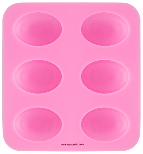 Oval Silicone (Traytastic! 6 Cavity Silicone Oval Mold for DIY Soap Bar Making)