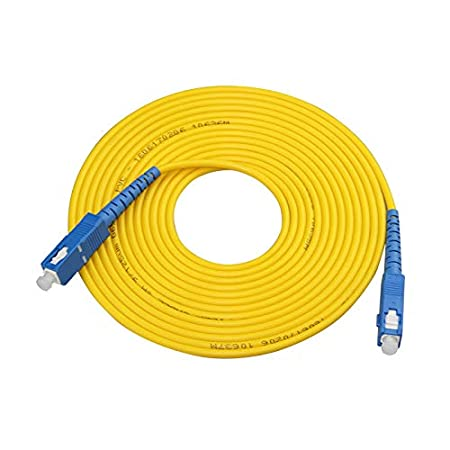 LWL-Kabel SC auf SC Singlemode Simplex 2,0 mm 3,0 mm Au/ßendurchmesser 9//125 LWL Patchkabel 2m 3.0mm