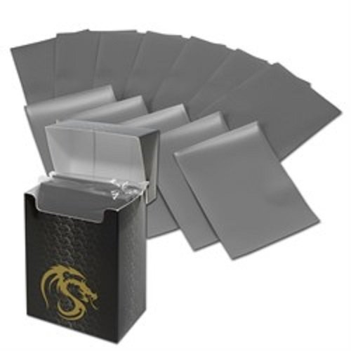(36) Gray BCW Deck Guard Pack - Trading Card Sleeves - 80 Sleeves per Pack - BCW-DGM80-GRY