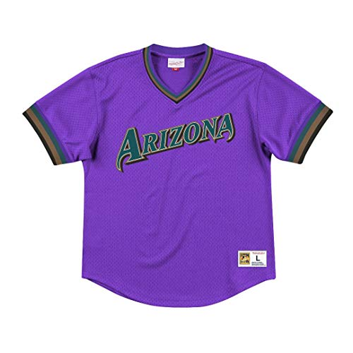 Mitchell & Ness Arizona Diamondbacks MLB Men's Dinger Mesh Jersey Shirt