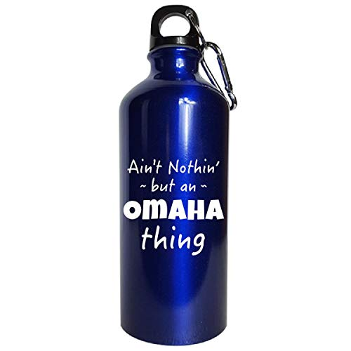 Sierra Goods Omaha Thing Hometown Pride Design - Water Bottle Metallic Blue