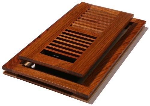 Decor Grates WLFC410-N 4-Inch by 10-Inch Wood Flushmount Floor Register, Natural Cherry