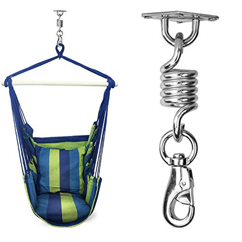 Belio Hammock Chair Hanging Kit, 700LB Stainless Steel Hanging Chair Hook Kit, Indoor Outdoor Spring Swivel Hook, Heavy Duty Hammock Ceiling Mount
