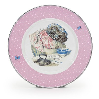 Enamelware - Tom Kitten Pattern - Kids 3 Piece Giftboxed with 4 Ounce Mug, 14 Ounce Bowl and 8½ Inch Plate by Golden Rabbit