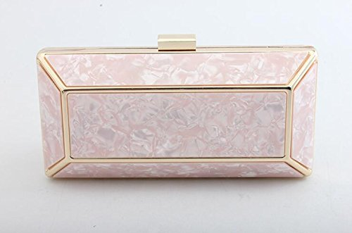 Wallet for Ceremony with for for for Handbag Party Shoulder Long Women Clutch Bag Bag Handbag Evening Cocktail Wedding Pink Evening with Elegant Small Bag CqfTdOq