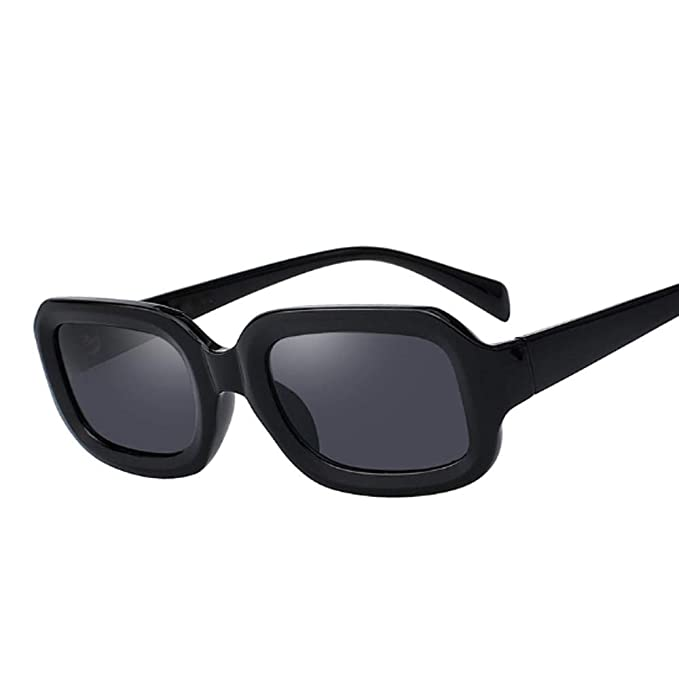 Gafas de sol cuadradas pequeñas Marco negro Tonos ...