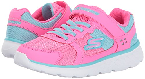Pictures of Skechers Kids Girls' GO Run 400-Sparkle 81358L Neon Pink/Aqua 4