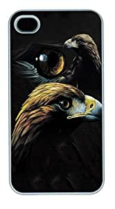 Golden Eagle Collage PC Case Cover for iPhone 4 and iPhone 4s White