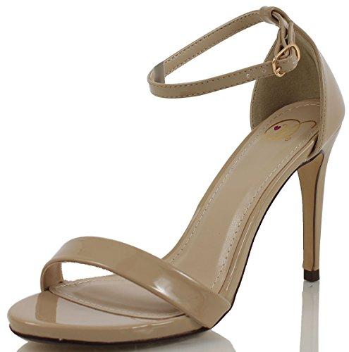 Strap Heel Beige Toe Jaiden Women's Delicious Ankle Open oscuro nwBzTaB6xP