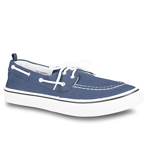 Influence Mens Casual Fashion Boat Shoe, Navy, Size (Blue Boat Shoes)