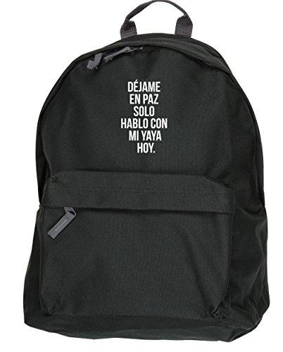 HippoWarehouse Déjame en Paz Solo Hablo con mi Yaya hoy kit mochila Dimensiones: 31 x 42 x 21 cm Capacidad: 18 litros Negro