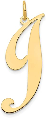 14K Yellow Gold Initial Z Charm Pendant from Roy Rose Jewelry