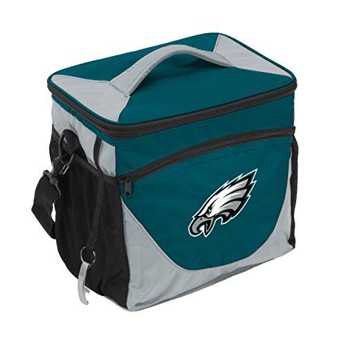 Logo Brands NFL Philadelphia Eagles 24 Can Cooler, One Size, Deep Teal