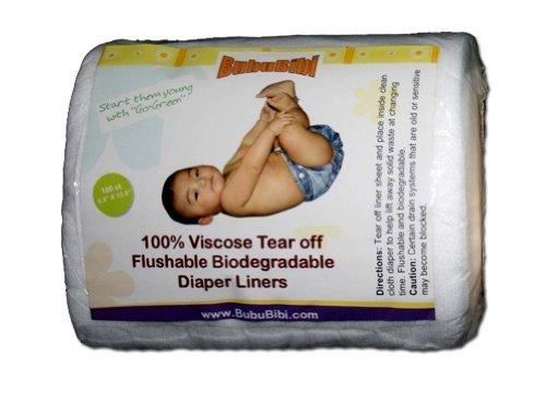 Viscose Biodegradable/ Flushable Liners for Dispoable or Cloth Diaper- BubuBibi