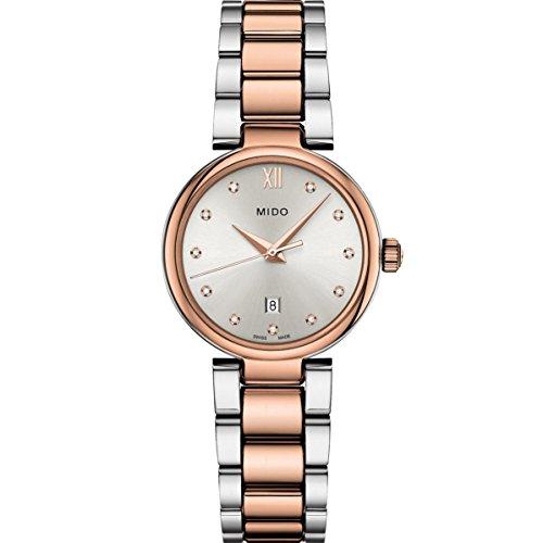 Mido Women's Baroncelli II Diamond 29mm Two Tone Steel Bracelet Steel Case Quartz Watch M022.210.22.036.00