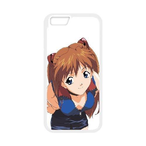 Asuka Langley Soryu Neon Genesis Evangelion 3 3 coque iPhone 6 Plus 5.5 Inch Housse Blanc téléphone portable couverture de cas coque EBDOBCKCO14797