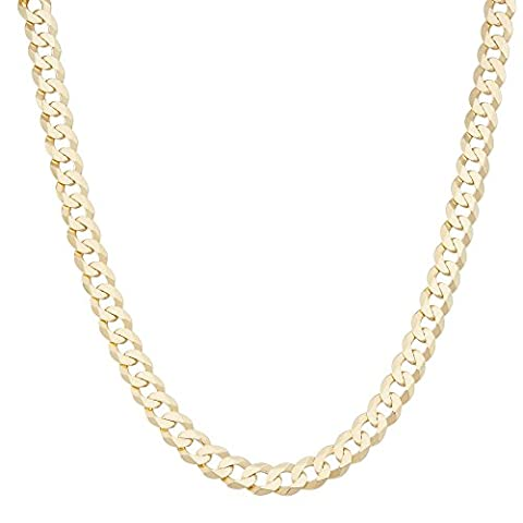 18k Gold Over Sterling Silver Curb Link Chain Necklace 20