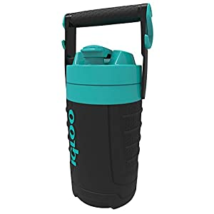 Igloo 1/2 gallon Insulated Hydration Jug, Black/Turquoise, 64 oz