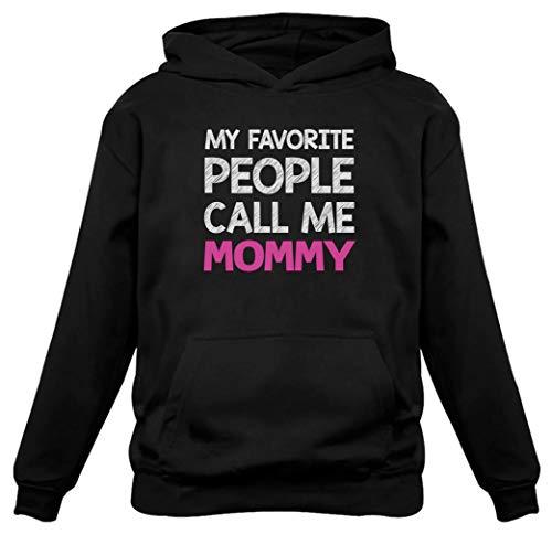TeeStars - My Favorite People Call Me Mommy - Best Gift for Mom Women Hoodie X-Large Black