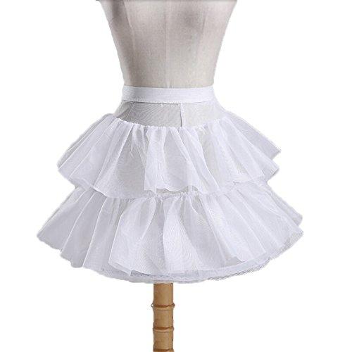 (Ruiyuhong Girl's White Short Crinoline Petticoats Slips Underskirt for Wedding Party (Free Size, Style2))