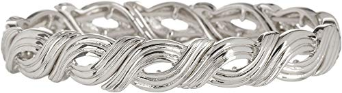 """Napier """"In Chains Silver"""" Silver-Tone Knot Stretch Bracelet"""