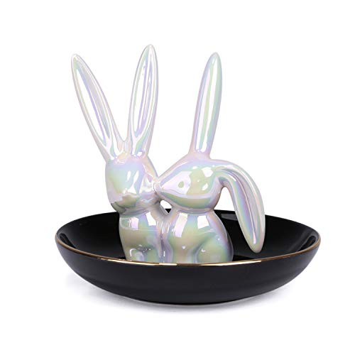 - MADECO Ring Dish Holder for Jewelry, Jewelry Tray, Ring Holder Decor Jewelry Dish Organizer,Ring Trays for Gifts, Wedding (Rabbit)
