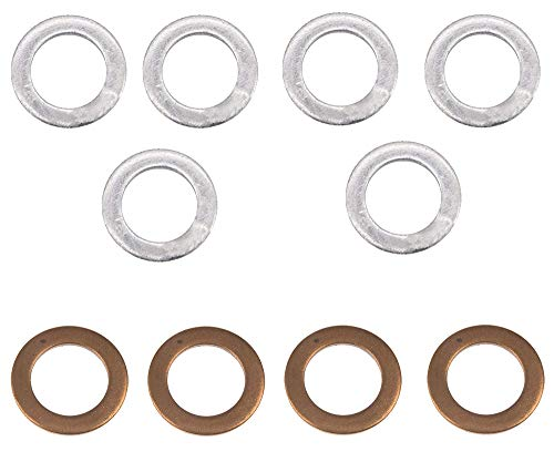 Bolt Motorcycle Hardware (DPWM12.20-10) M12 x 20mm Drain Plug Washer, (Pack of 10)