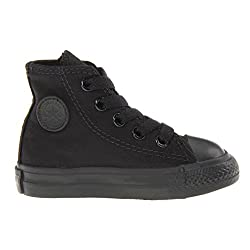 Converse Toddlers Chuck Taylor All Star Hi Top Black Monochrome Canvas Shoes 7s121 Toddlers 3