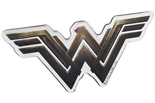 Womens Emblem - Fan Emblems Wonder Woman Logo Car Decal Domed/Multicolor/Chrome Finish, Batman v Superman: Dawn of Justice BvS Automotive Emblem Sticker Applies Easily to Cars, Motorcycles, Laptops, Cellphones, etc