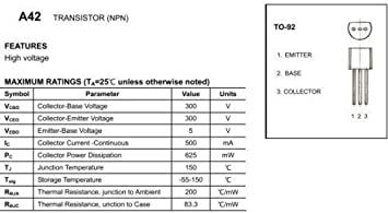 MPSA42 NPN HI-VOLTAGE TRANSISTOR 15pcs
