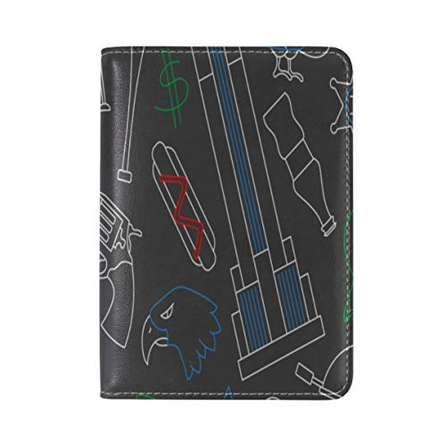 Passport Cover Case Bbq Theme Food Delicious Buffet Meat Leather&microfiber Multi Purpose Print Passport Holder Travel Wallet For Women And Men 5.51x3.94 In