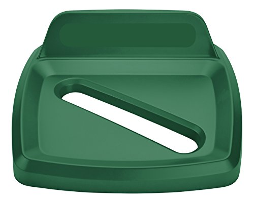 Paper Lid Recycling Untouchable (Rubbermaid Commercial Untouchable Recycling Lid, Paper - Green, 2018359)