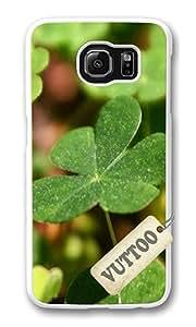 Samsung S6 Case,VUTTOO Stylish Shamrock Hard Case For Samsung Galaxy S6 - PC White