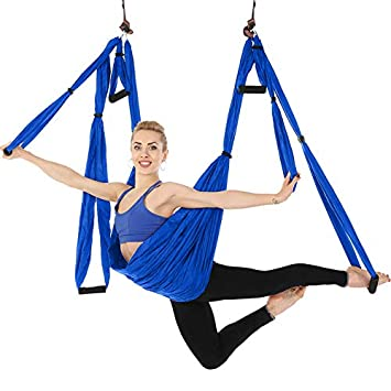 lOOkME-H Large Bearing Aerial Yoga Trapeze Hammock High Load Capacity for Swing//Inversion// Sling with a Carrying Bag