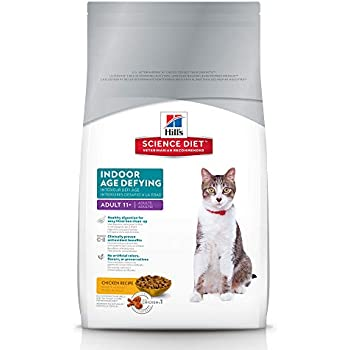 Hills Science Diet Dry Cat Food, Adult 11+, Indoor, Chicken Recipe, 7 lb bag