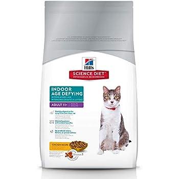 Hills Science Diet Dry Cat Food, Adult 11+, Indoor, Chicken Recipe, 7 lb bag