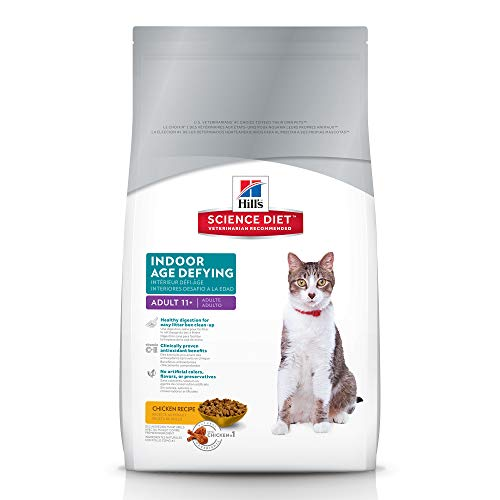 Hill's Science Diet Dry Cat Food, Adult 11+, Indoor, Chicken Recipe, 7 lb bag