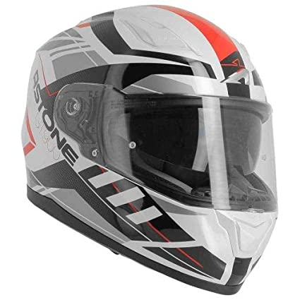 Casque de moto int/égral homologu/é Casque de moto GT900 Street White//red L Casque de moto mixte en polycarbonate Casque int/égral large vision Astone Helmets