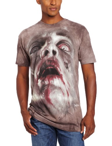 The Mountain Zombie Face T-Shirt, XX-Large, Gray